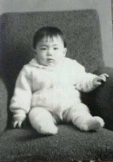 赤ちゃんの頃の私